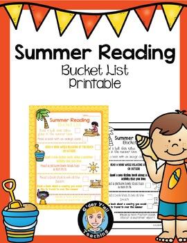 Summer Reading Activities- No Prep Printables