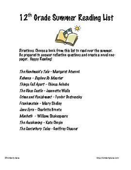 Summer Reading Bundle (Grades 7-12)