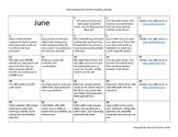 Summer Reading Calendar-Kindergarten