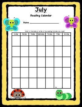 Summer Reading Calendars!