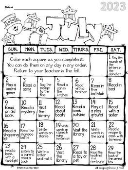 Summer Reading Calendars 2017 Free