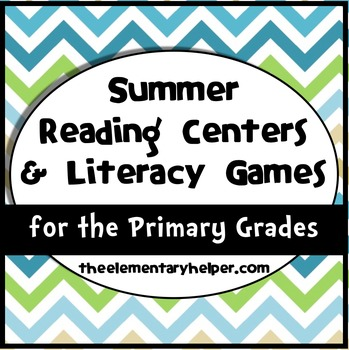 Summer Reading Centers and Literacy Games for Primary Grades