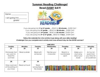 Summer Reading Challenge 2015