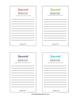 Summer Reading Challenge Activities and Printable Bookmarks