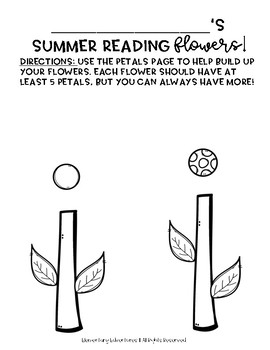 Summer Reading Challenge-- Build a Flower FREEBIE