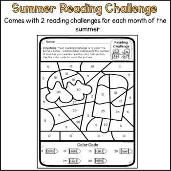 Summer Reading Challenge - Color by Code