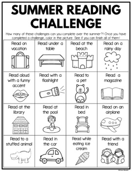 Summer Reading Challenge | Summer Reading Bingo