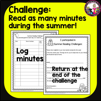 Summer Reading Challenge! For Rising 1st to 5th Graders! In Spanish too!