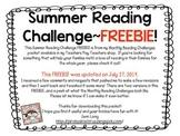 Summer Reading Challenge Freebie