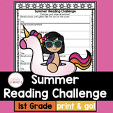 Summer Reading Challenge for first grade with book list