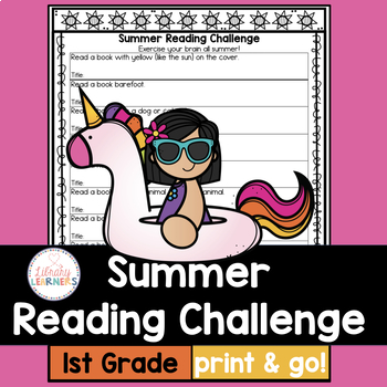 Summer Reading List For And By Teachers >> Summer Reading Challenge For First Grade With Book List Tpt