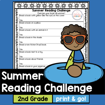 Summer Reading Challenge for second grade with book list