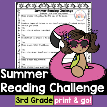 Summer Reading Challenge for third grade with book list