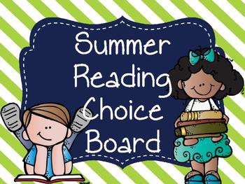 Summer Reading Choice Board