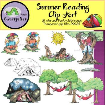 Children Reading Clip Art