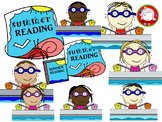 Summer Reading Clipart (Personal & Commercial Use)