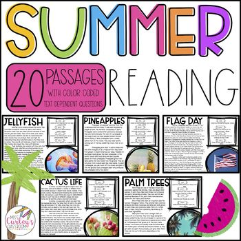 Summer Reading: Color Coded Reading Passages