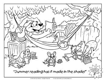 Summer Reading Coloring Sheet