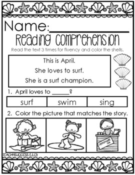 Summer Reading Comprehension