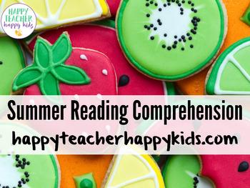 Summer Reading Comprehension: Beach, Barbeque, Ocean