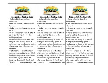 Student Comprehension Guide for Summer Reading