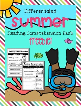 Summer Reading Comprehension Freebie