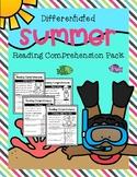 Summer Reading Comprehension Pack