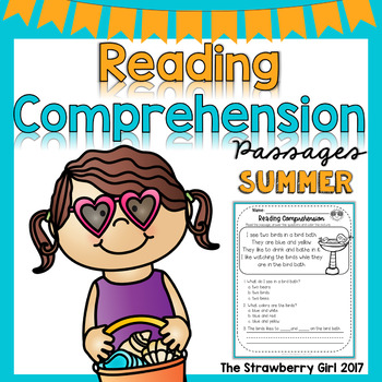 Kindergarten Reading Comprehension Passages- Summer