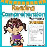 Kindergarten Reading Comprehension Passages- Summer