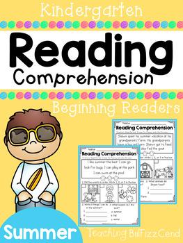 Kindergarten Reading Comprehension (Summer Edition)