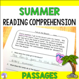 Summer Reading Comprehension Passages (Distance Learning)