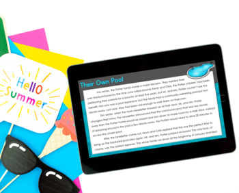 Summer Reading Comprehension Passages and Activities {Just Print}