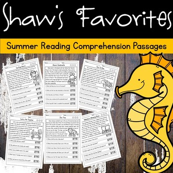 Summer Reading Comprehension Passages w/Questions