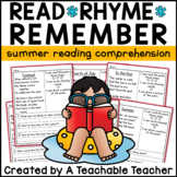 Summer Reading Comprehension Poems