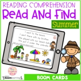 Summer Reading Comprehension – Read and Find (Boom Cards™)