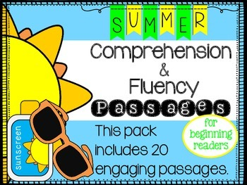 Summer Reading Comprehension and Fluency Passages