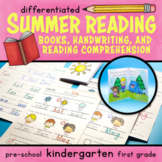 Summer Reading Comprehension differentiated Handwriting Wi