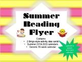 Summer Reading Flyer (Summer Reading Activities and Summer Reading Calendar)