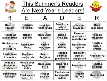 Summer Reading Flyer (Summer Reading Activities and Summer Reading Calendar)
