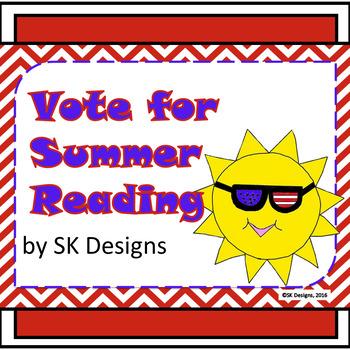 Summer Reading Fun Activities, Tracking Chart Record, Book Selection No Prep