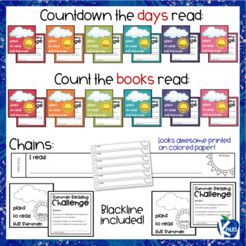 End of the Year | Summer Reading Goal Paper Chain