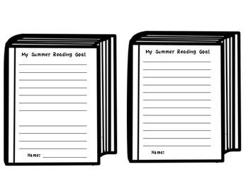 Summer Reading Goal Writing Craft