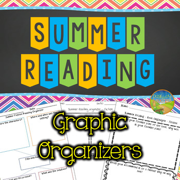 Summer Reading Graphic Organizers and Logs