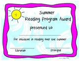 Summer Reading Initiative Award
