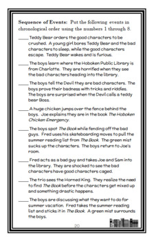 Time Warp Trio: Summer Reading Is Killing Me! (John Scieszka) Novel Study