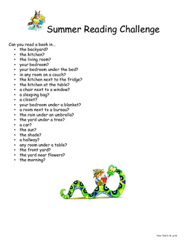 Summer Reading Activities Bundle