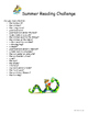 Summer Reading Printable Activities Pack
