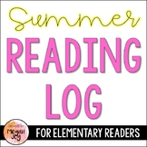 Take Home Summer Reading Log & Journal