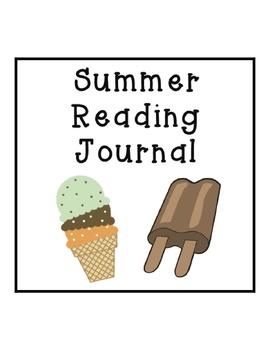 Summer Reading Journal - Ice Cream Theme