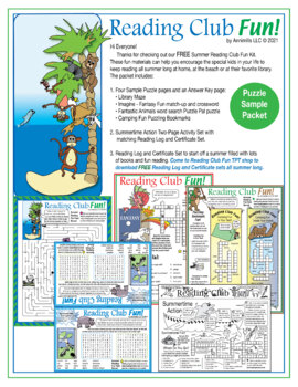Free Summer Reading Fun Packet
